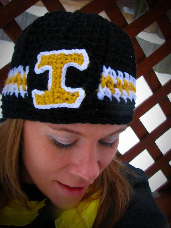 Iowa Hawkeyes Crochet Hat