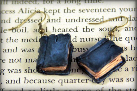 Beloved Book Earrings Jewelry Handmade by NeverlandJewelry on Etsy, $22.00