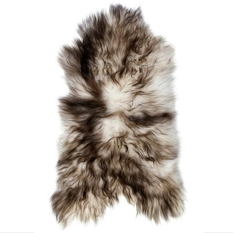 Icelandic Sheepskin Rug - Natural White with Black Streaks | Simple Style Co