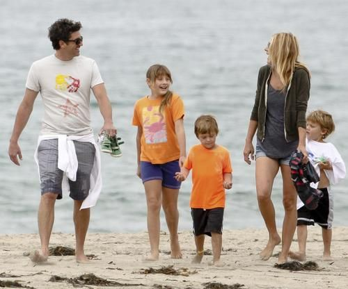 Patrick Dempsey and his family out in Malibu