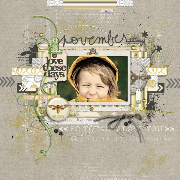 gorgeous #scrapbook page from Carolynn at DesignerDigitals