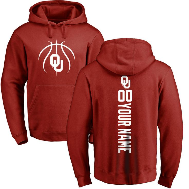 Oklahoma Sooners Basketball Personalized Backer Pullover Hoodie - Cardinal