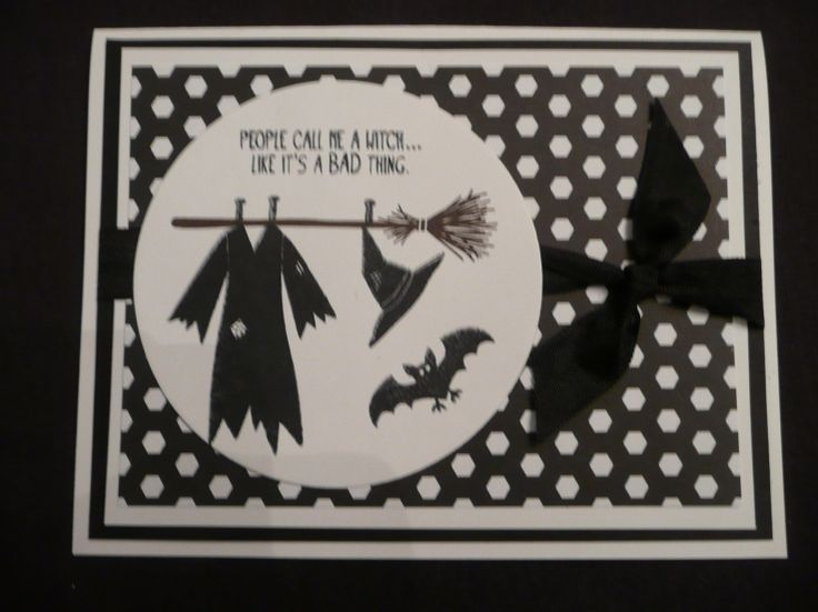 Tee-Hee Hee by Kim Ransom, ink colors: staz on black, early espresso(broom) paper: whisper white, basic black, back to black dsp stamp set: Tee-Hee Hee accessories: ribbon, circle framelits
