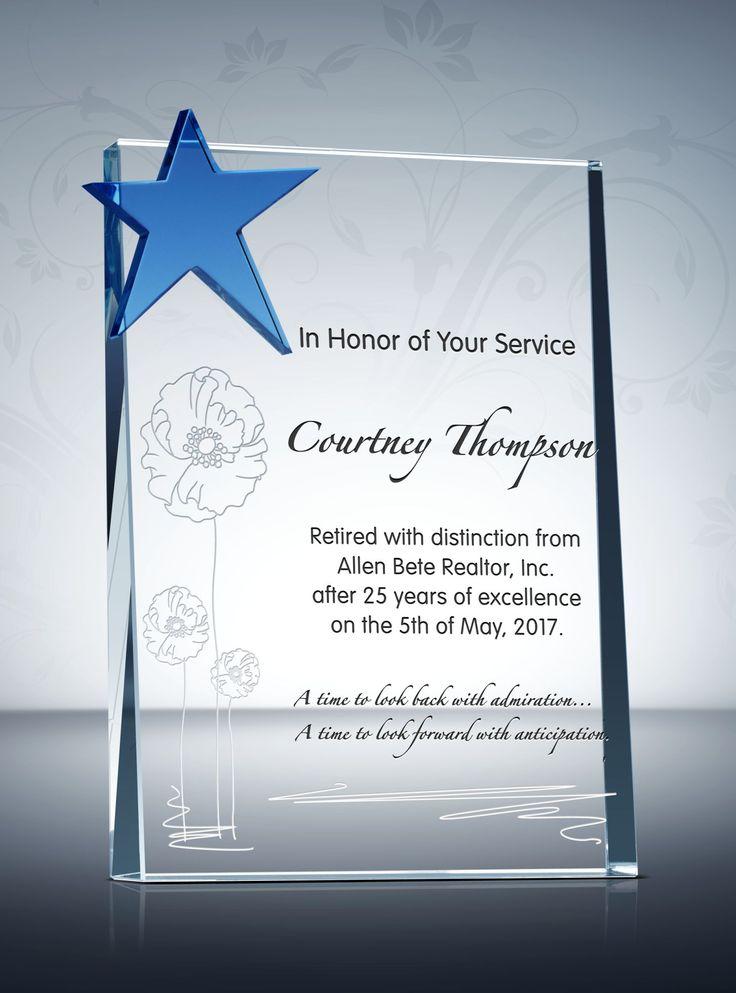84 best Retirement Plaques & Awards images on Pinterest ...