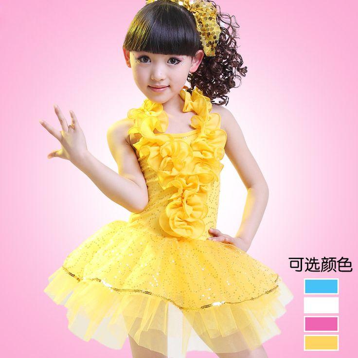 Новые девочек Латинский танец одежда Желтая сетка танец юбка детский сад Костюм Латинский Танец купить на AliExpress