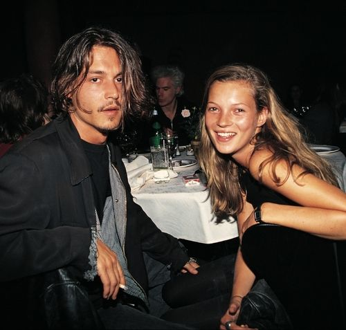 80s-90s-supermodels:  Johnny Depp  Kate Moss by Roxanne Lowit, mid 90s