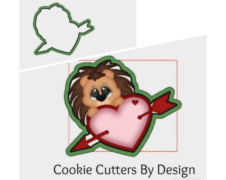 Valentine's Cookie Cutter / Hedgehog Cookie Cutter / Heart Cookie Cutter / Arrow Cookie Cutter / 3D Printed Cookie Cutters / Cookie Cutter by CookieCuttersByDsgn on Etsy