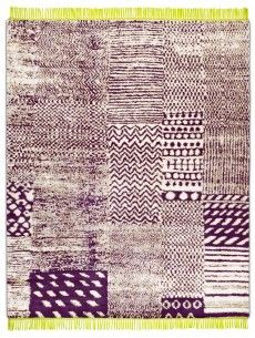 RUG STAR COLLECTION DIMENSIONS: 250CM X 300CM Africa Deep Purple Apple Green Rain, wool and hemp with silk fringes