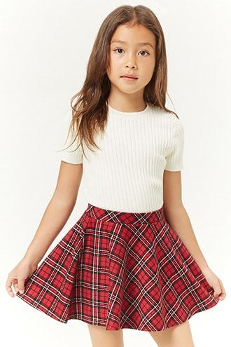 0180bf480 Girls Plaid Mini Skirt (Kids) | Products in 2019 | Winter outfits ...