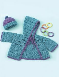 caron-baby-hoodie-hat-Baby Hoodie & Hat and more free patterns