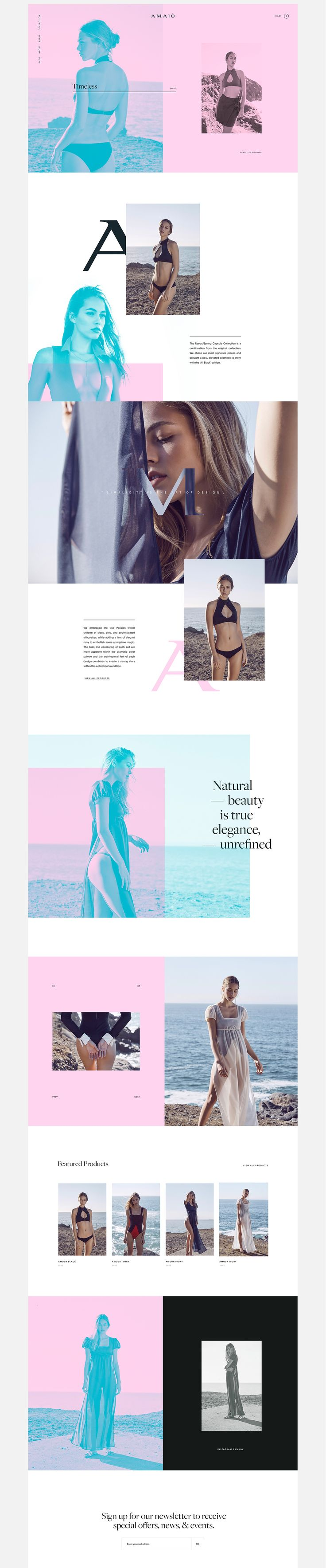 Amaio - Ecommerce Website on Behance