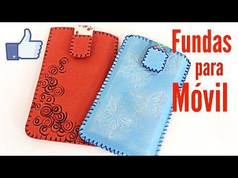Fundas caseras para celular móvil fácil. Manualidades fáciles - YouTube
