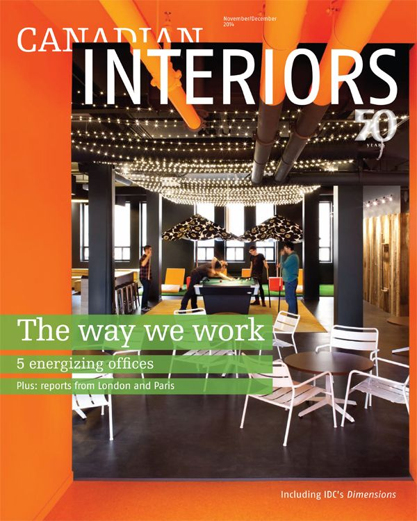 We were featured in Canadian Interiors November/December 2014 Issue #interiormagazines #lighting #design