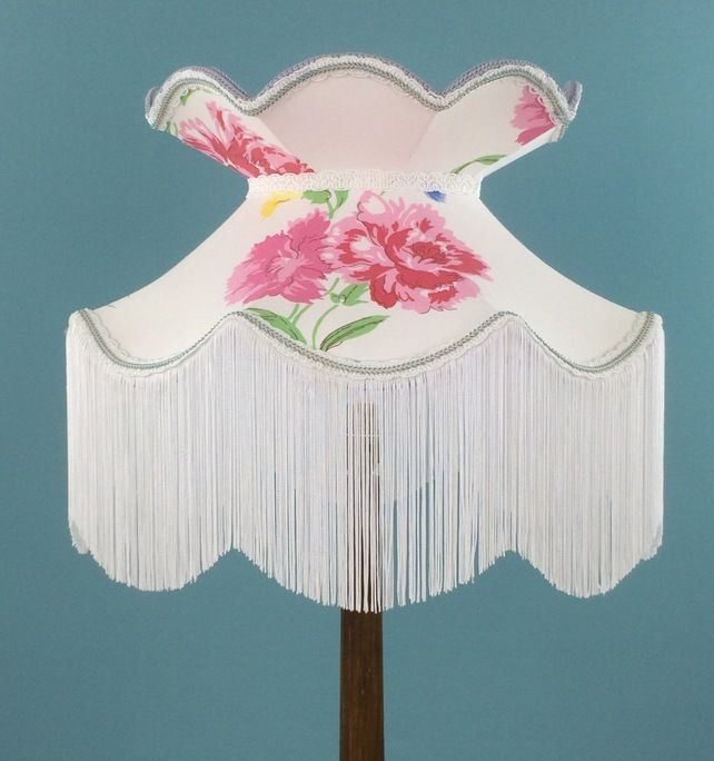 SALE Victorian style lampshade in a vi tags floral  £75.00