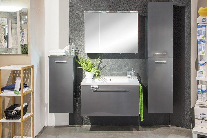 Moderne Badezimmermobel In Dunklen Grau Bad Badezimmer Design
