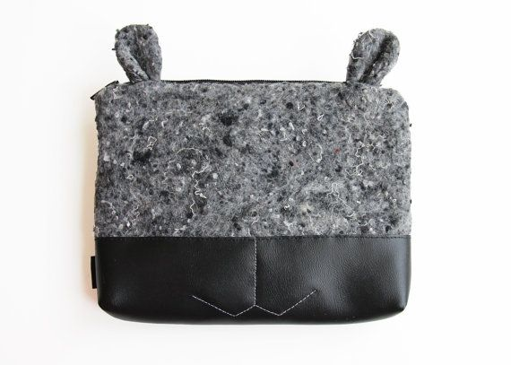 Toiletry bag: cute makeup bags luxury cosmetic bag vanity pouch by Szududu  #cutemakeupbags #toiletrybagblack #designertoiletrybag #vegancosmeticbag #veganaccessories #vegantolietrybag #foranimallover #bagwithears #vanitypouch #makeupbag #giftforher #veganmakeupbag https://www.etsy.com/listing/257231400/toiletry-bag-black-make-up-bag-cosmetic?ref=shop_home_active_1