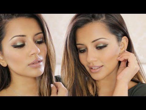 Gold + Green Eid Makeup Tutorial + Autumn/Fall Makeup Look | Kaushal Beauty - YouTube
