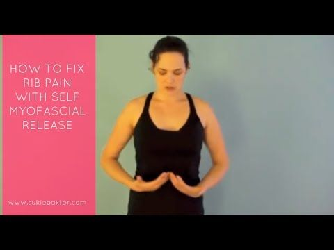 How to Fix Rib Pain with Self Myofascial Release - YouTube