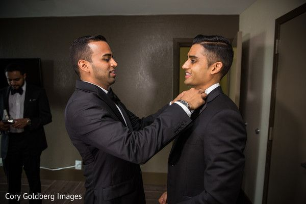Elegant indian groom getting ready for the reception. http://www.maharaniweddings.com/gallery/photo/90324