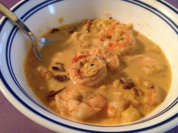 Shrimp And Roasted Corn Chowder Recipe — Dishmaps