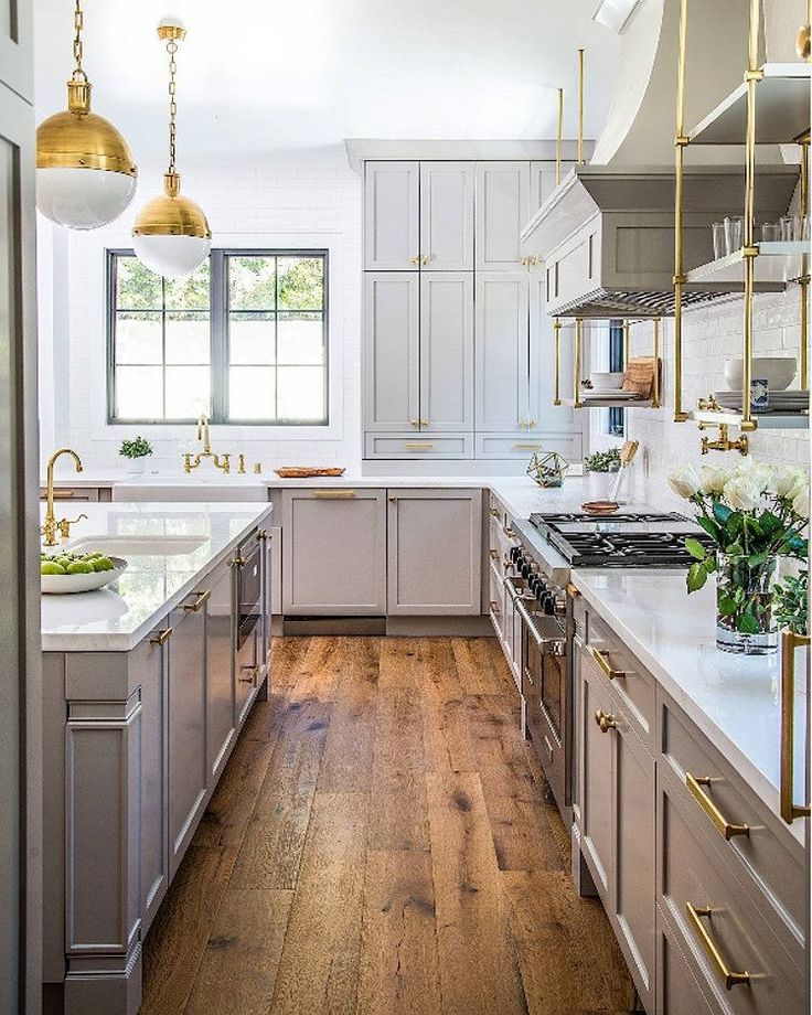 Gray and wood kitchen | See this Instagram photo by @homebunch