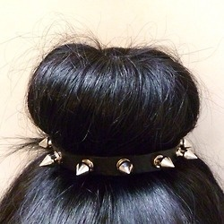 I think i could pull this off: Studs, Spikes, Style, Hair Pieces, Buns Hair, Hair Ties, Hair Accessories, Socks Buns, Hair Buns