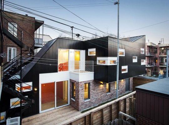 Extension dune maison en quintuplex à Montréal par Nature Humaine