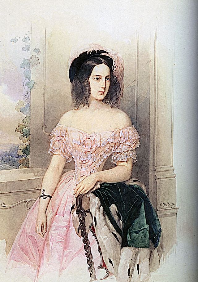 Vladimir Hau - Maria Nikolaievna, 1844, State Pushkin Museum, Moscow, Russia