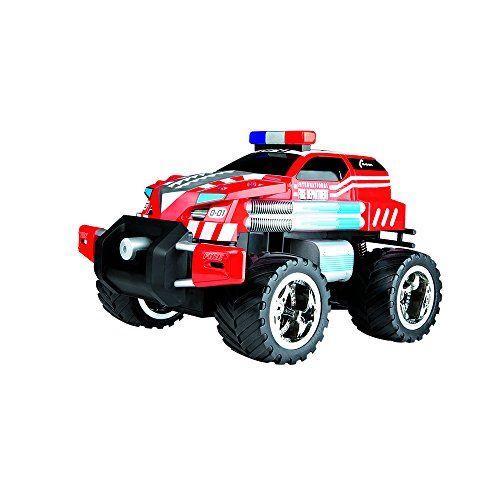Carrera RC  Fire Fighter disparador de agua con luces y sonido coche con radiocontrol 2.4 GHz escala 1:14 (370142023)