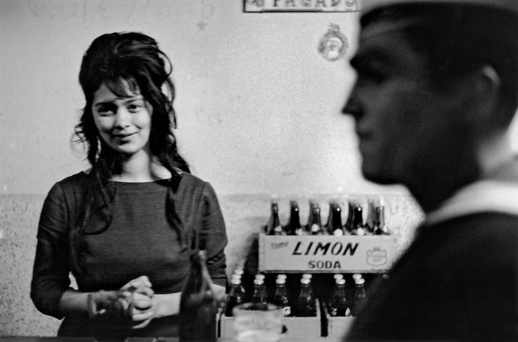 """Limón Soda"" one of Sergio Larraín's most acclaimed pictures. Bar in Valparaíso Chile 1963 [OS] [1067x704]"