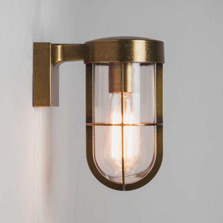 55 best lighting images on pinterest ceiling lamps ceiling astro 7559 cabin exterior wall light in antique brass with clear glass wall lamp mozeypictures Images