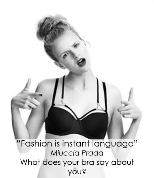 What does your bra say about you? On our blog this week - 15 Fashion quotes that apply to lingerie: http://blog.misa.com.au/15-fashion-quotes-that-apply-to-lingerie/