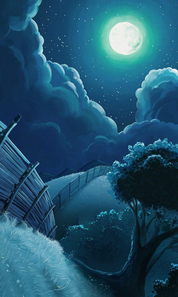Sheeps at Night Illustration #illustration #sheeps