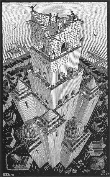 Torre de Babel - Escher, M. C. e suas geniais litogravuras