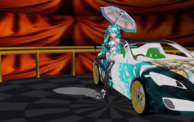 Race Miku   #hatsunemiku #anime #animegirl