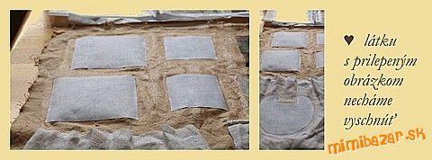 Technika zošúchavacia alebo ako dostať obrázok na textil