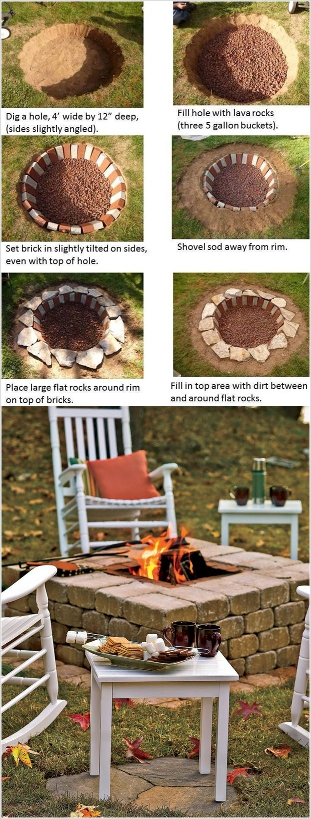 best ideas about Easy fire pit on Pinterest