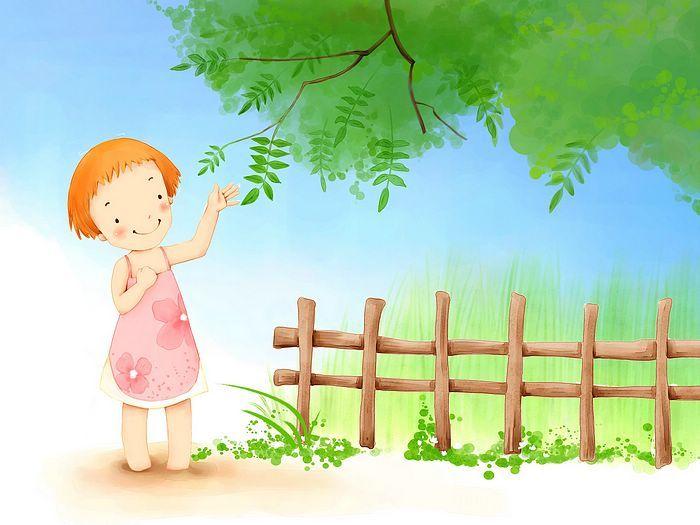 Kim Jong Bok Illustrations(Vol.05) : Sweet Childhood Lovely Girl    - Summer Fairy - Sweet Little Girl Cartoon Wallpaper 1920*1600  26