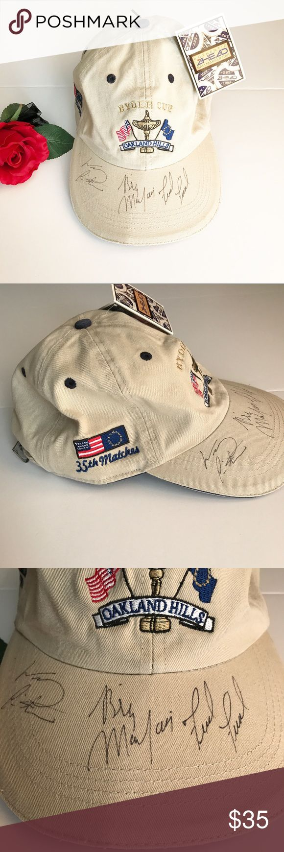 Fred Funk & Billy Mayfair autographed baseball cap A collector's item for the golf fan. This baseball cap is autographed by Fred Funk and Billy Mayfair. New with tag. Accessories Hats