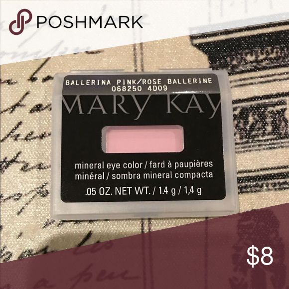 NEW Mary Kay Ballerina Pink Mineral Eye Color Price is Firm unless bundled. This long-lasting, fade-resistant, mineral-based formula delivers weightless, high-impact color in one swipe with a natural, luminous finish that looks gorgeous on any skin tone.  Glides on easily and applies smoothly and evenly.  Contains vitamins A, C and E to help protect against wrinkle-causing free radicals.  Oil-absorbing properties. Crease-resistant. Steel pan fits perfectly into the Mary Kay® Compact. Mary…