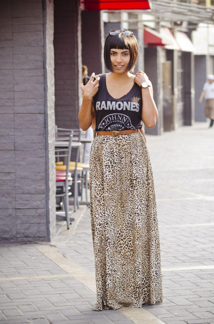 Ramones shirt + Animal print skirt | Fashion In Da Hat
