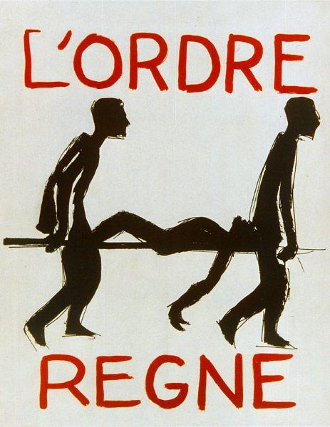 """""""L'ordre règne"""", Affiche Mai 68.    BnF, Département des Estampes et de la photographie"""