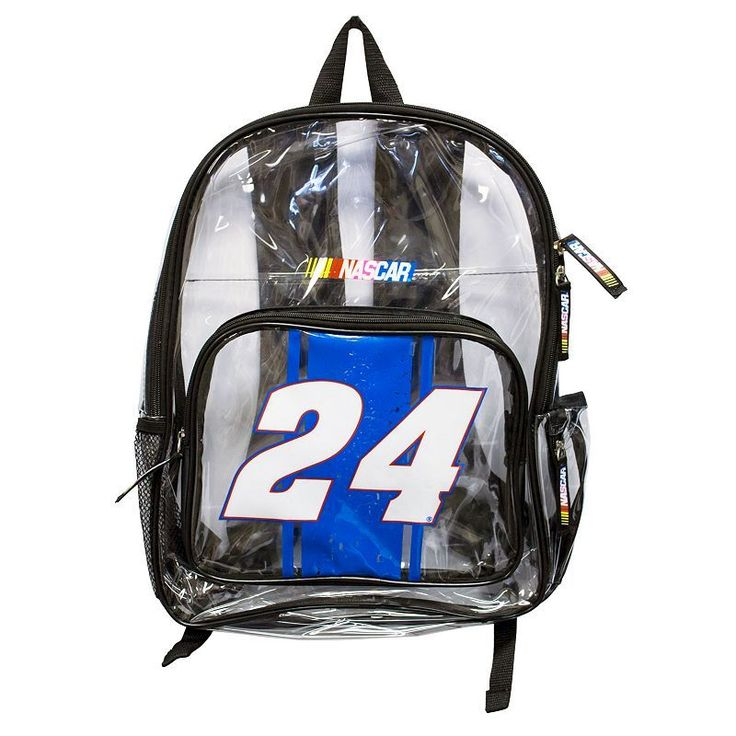 Chase Elliot Clear Backpack, Multicolor