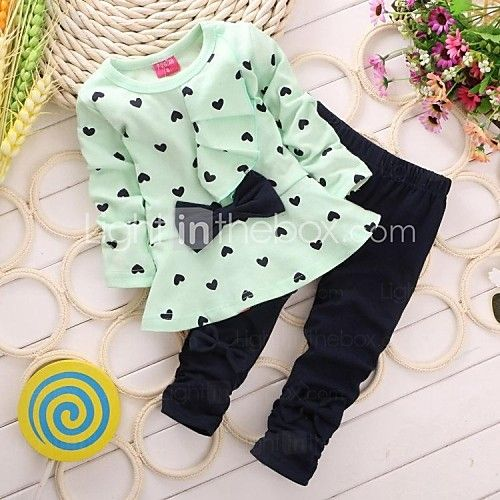 set de moda dragoste îmbrăcăminte Bowknot fete (bluza&gâfâi) - USD $ 12.99
