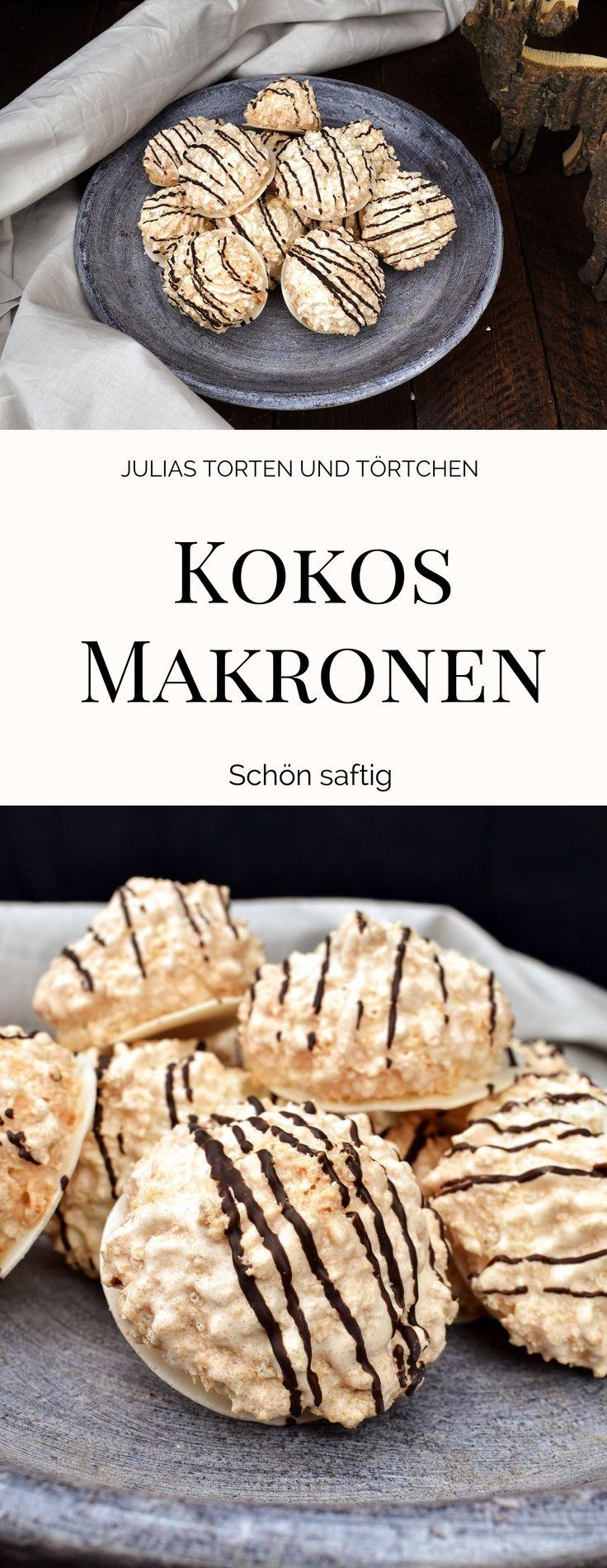 Rezept für saftige Kokosmakronen #Weihnachtsplätzchen #Plätzchen #Kokosmakronen