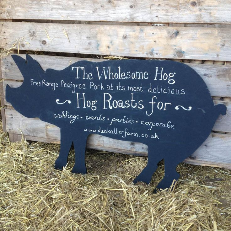 A Large Pig Shaped Chalkboard That Can Be Hung Up Or Placed Leaning Write Your