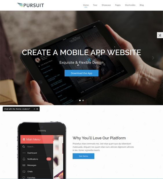 This WordPress theme for promoting apps comes with a page builder, a product showcase, a responsive layout, a Bootstrap framework, WPML support, over 500 icons, shortcodes, parallax support, Google Fonts, and more.