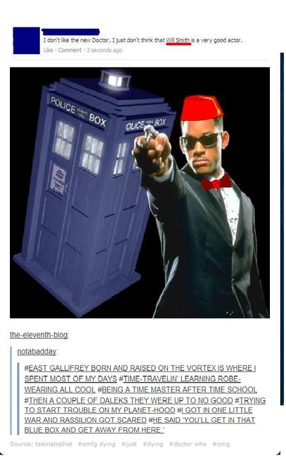 Lol. Fresh prince. Doctor who. Fresh doctor. Rap. Lol