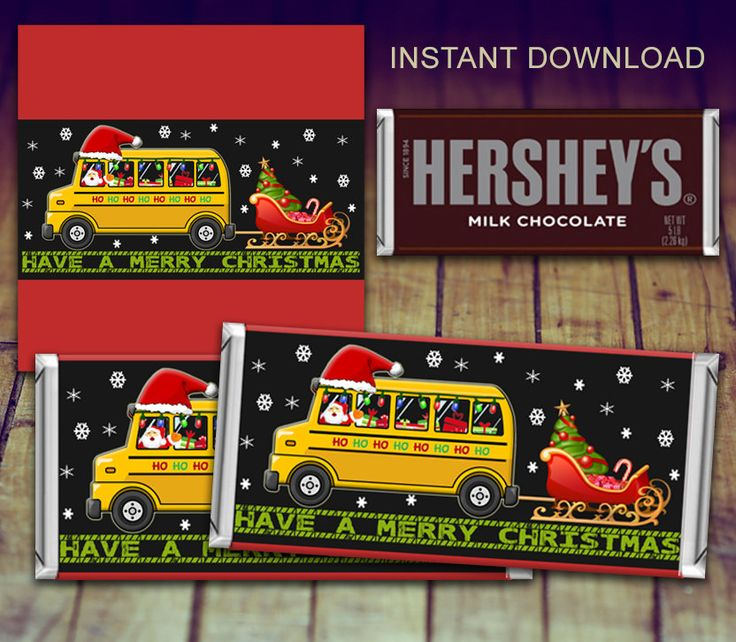 A personal favorite from my Etsy shop https://www.etsy.com/ca/listing/485714955/christmas-candy-bar-wrapper-bus-driver