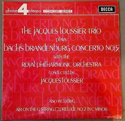 The Jacques Loussier Trio Bach's Brandenburg Concerto No. 5 LP 1970 Vinyl Decca